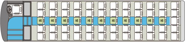 大型貸切バス3車内図