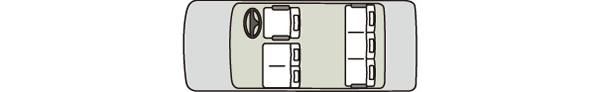 中型タクシー13車内図