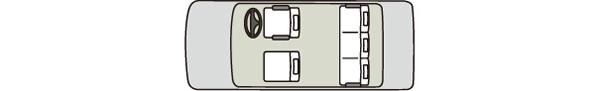 小型タクシー14車内図