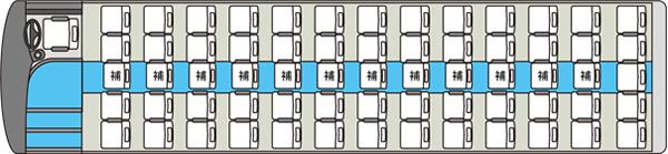 大型貸切バス4車内図
