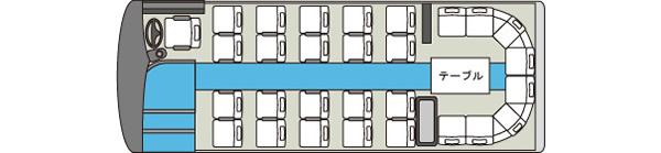 中型貸切バス6車内図