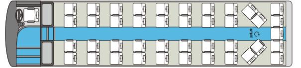 大型貸切バス 2車内図