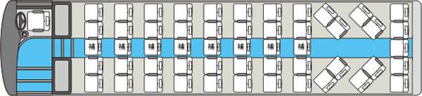 大型貸切バス 1車内図