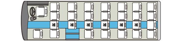 マイクロバス11車内図