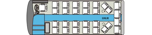 中型貸切バス5車内図