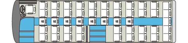 中型貸切バス8車内図
