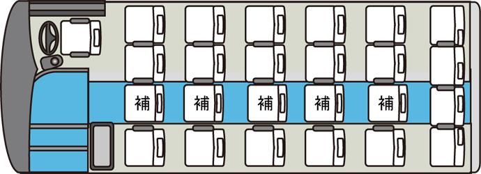 小型貸切バス車内図